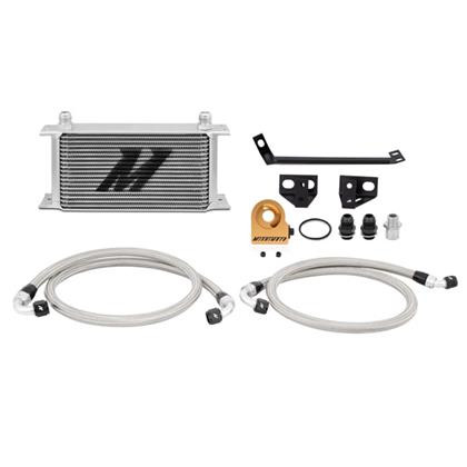 Part Number:         MMOC-MUS4-15T Description:            Ford Mustang EcoBoost Thermostatic Oil Cooler Kit Color:                        Silver Finish:                       Painted Material:                  Aluminum