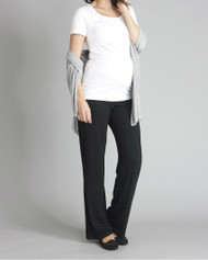 Black Seraphine Maternity Roll- Over Maternity Pants (Gently Used - Size 10)