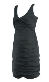 Black A Pea in the Pod Collection Maternity Special Occasion Ruched Maternity Dress (Like New - Size Small)