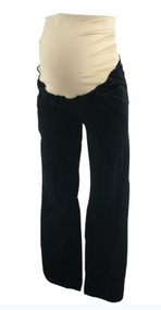 Black Ann Taylor Loft Maternity Corduroy Boot Cut Maternity Pants (Like New - Size 10)