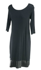 "*New* Black Motherhood Maternity Scoop Neck ""Work it Girl"" Career Maternity Dress (Size Medium)"