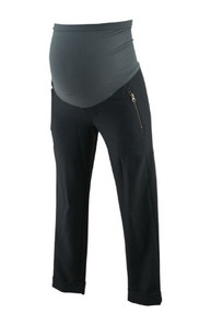 *New* Dark Gray A Pea in the Pod Maternity Cropped and Cuffed Versatile Zipper Detailed Maternity Pants (Size X-Small)