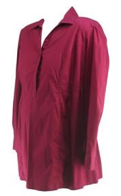 Deep Raspberry Motherhood Maternity Long Sleeve Popover Career Tunic (Like New - Size Large)