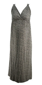 Black Floral Loved by Heidi Klum Maternity Sleeveless Maxi Dress (Gently Used - Size Small)