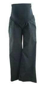 Black GAP Maternity Full Panel Stretch Boot Cut Casual Maternity Pants (Gently Used - Size 6)