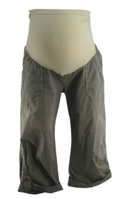 Khaki Gray A Pea in the Pod Collection Maternity Full Panel Cargo Capris (Gently Used - Size 30)