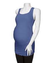 Blue Michael Stars Maternity Sleeveless Ruched Sparkle Tunic Tank Top (Like New - Size X-Small)