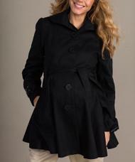 *New* Black Mom2Mom Maternity Thick Trench Coat  (Size - 36UK/ Size 6 USA)