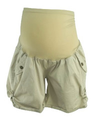 Tan and Black Motherhood Maternity Lot of 2 Maternity Cargo Shorts (Gently Used - Size Large)