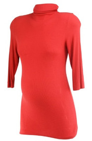 Burnt Orange A Pea in the Pod Maternity Turtleneck Maternity Top (Gently Used - Size Medium)