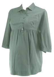 Black Motherhood Maternity Button Down Casual Maternity Dress (Gently Used - Size Large)