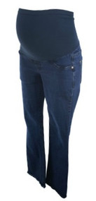 Denim Blue Indigo Blue Boot Cut Maternity Jeans (Gently Used - Size X-Small)
