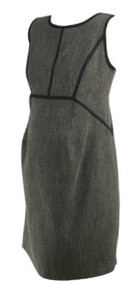 Gray Motherhood Maternity Scoop Neck Short Sleeve Career Maternity Dress (Like New - Size Medium)