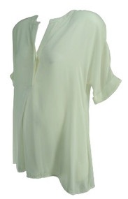 *New* White A Pea in the Pod Maternity See-Through Tunic Maternity Blouse (Size Small)