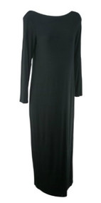 Black GAP Maternity Boat Neck Maxi Maternity Dress (Gently Used - Size Large)