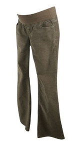 Beige GAP Maternity Sexy Boot Cut Maternity Corduroy Pants (Like New - Size 26/2R)