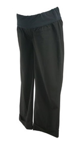 Black GAP Maternity Cropped Casual Maternity Pants (Like New - Size 4)