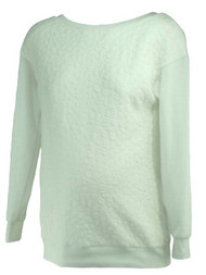 *New* White A Pea In The Pod Maternity Textured Sweatshirt
