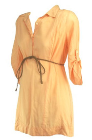 *New* Orange Creamsicle A Pea in the Pod Maternity Casual Career Maternity Top (Size Medium)