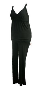 *New* Black A Pea in the Pod Maternity 2 Piece Sleepwear Maternity Top (Size Large)