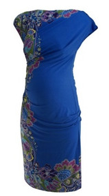 *New* Blue Donna Morgan for A Pea in the Pod Maternity Collection Paisley Print Dress (Size Small)