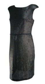 *New* Black A Pea in the Pod Collection Maternity All Over Sequenced Special Occasion Dress (Size Medium)