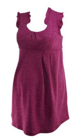 Raspberry Pink Maternal America Ruffled Career Maternity Dress (Like New - Size Large)