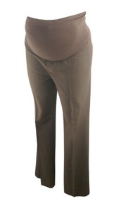 Brown Mimi Maternity Full Panel Career Pants (Gently Used - Size Large)