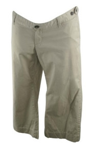 Beige GAP Maternity Cropped Casual Maternity Pants (Gently Used - Size 8)