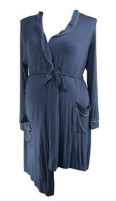 *New* Steel Blue A Pea in the Pod Maternity Nursing Maternity Robe (Size Large)