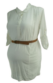 *New* White A Pea in the Pod Maternity Button Down Career Maternity Top (Size Large)