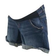 Blue Indigo Blue Maternity Mini Denim Maternity Shorts (Like New - Size X-Small)