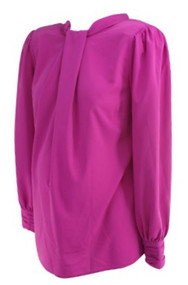 Fuschia Asos Maternity Loose Renaissance Long Sleeve Maternity Blouse (Like New - Size 6)