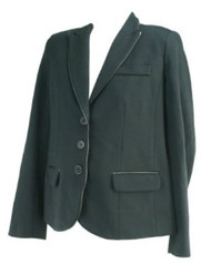 *New* Black A Pea in the Pod Maternity Career Maternity Blazer with Leather Trim