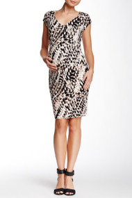 *New* Animal Curve Print Tart Maternity Freya Dress (Size Small)