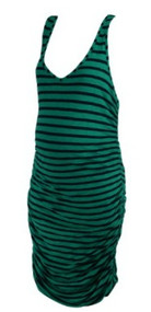 *New* Green A Pea in the Pod Collection Ruched Maxi Maternity Dress (Size Large)