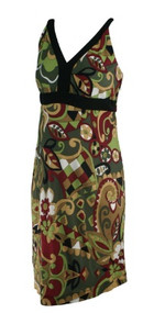 *New* Green Abstract Print A Pea in the Pod Collection Maternity V-Neck Career Maternity Dress (Size Medium)