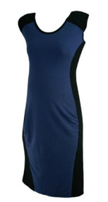 Slate Blue Inanimo Maternity Sleeveless Career Maternity Dress (Gently Used - Size Medium)
