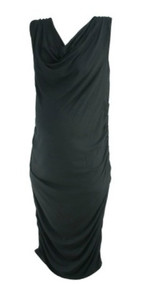Black Seraphine Maternity Sleeveless Ruched Slinky Maternity Dress (Like New - Size 12)