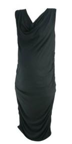 Black Seraphine Maternity Sleeveless Ruched Slinky Maternity Dress (Like New - Size 12)