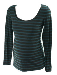 *New* Dark Green A Pea in the Pod Maternity Long Sleeve Maternity Nursing Top with Button Detail (Size Medium)