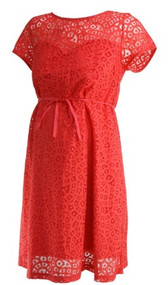 Burnt Orange A Pea in the Pod Maternity Crochet Career Maternity Dress (Like New - Size Medium)