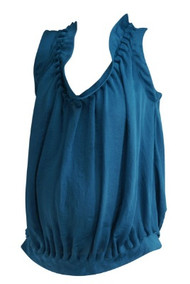 Turquoise Club Monaco Maternity Sleeveless V-Neck Blouse (Like New - Size Small)