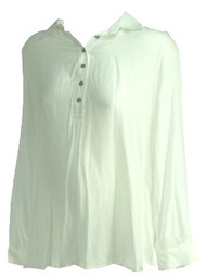 White A Pea in the Pod Maternity Button Down Long Sleeve Maternity Top (Gently Used - Size Medium)