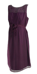 *New* Purple A Pea in the Pod Maternity Beaded Short Sleeve Maternity Dress (Size Large)