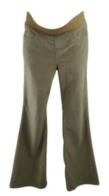Beige Motherhood Maternity Boot Cut Corduroy Maternity Pants (Gently Used - Size Medium)