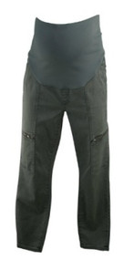 Gray Lila Ryan Maternity Full Panel Utility Maternity Pants (Gently Used - Size 12)
