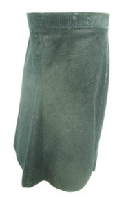Black A Pea in the Pod Maternity Thick Corduroy A Line Maternity Skirt (Gently Used - Size Medium)