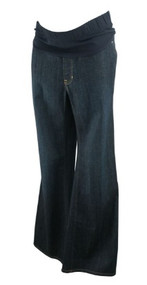 Dark Denim GAP Maternity Boot Cut Long Maternity Jeans (Like New - Size 10)