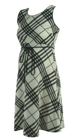 White and Black Grid Style Motherhood Maternity Sleeveless Career Dress (Like New - Size Small)